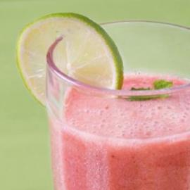 Roze smoothie vierkant