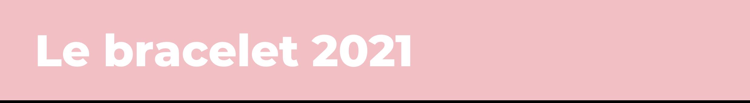 Le bracelet 2021