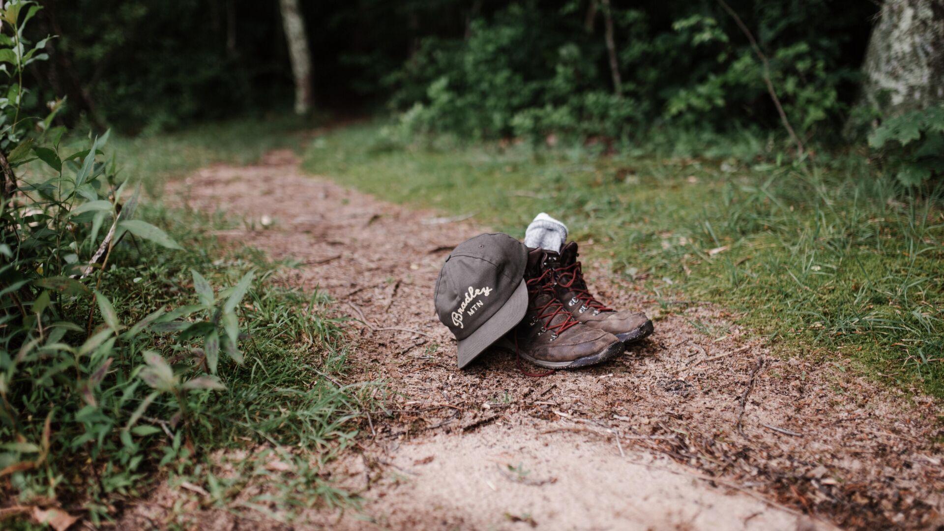 Verlaten wandelschoenen
